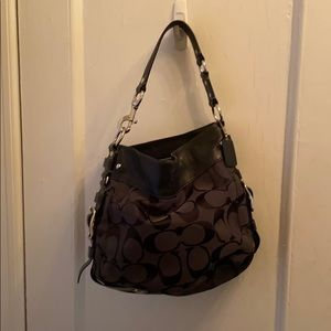 Coach black C handbag